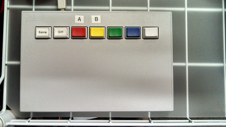 Figure 1. A Cedrus 7-button response pad, for use with Presentation and E-prime